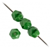Fire Polished 4mm Green Opaque Silk